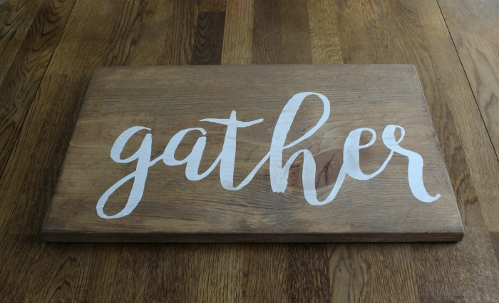 Gather Wood Sign by Knick of Time | knickoftime.net