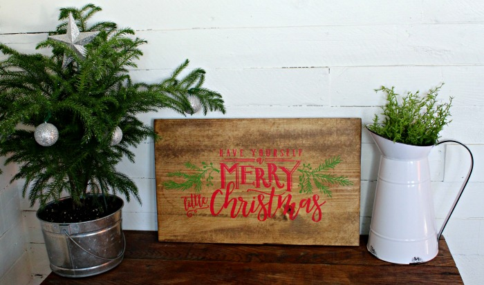 Wood Merry Little Christmas Handmade Sign by Knick of Time | knickoftime.net