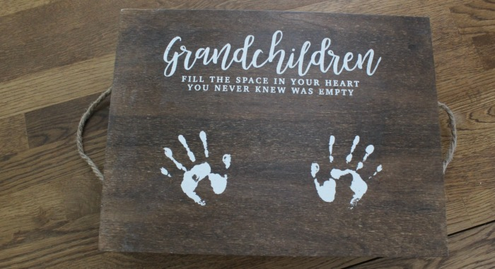 Chalk Couture Grandchildren Wood Tray by Knick of Time