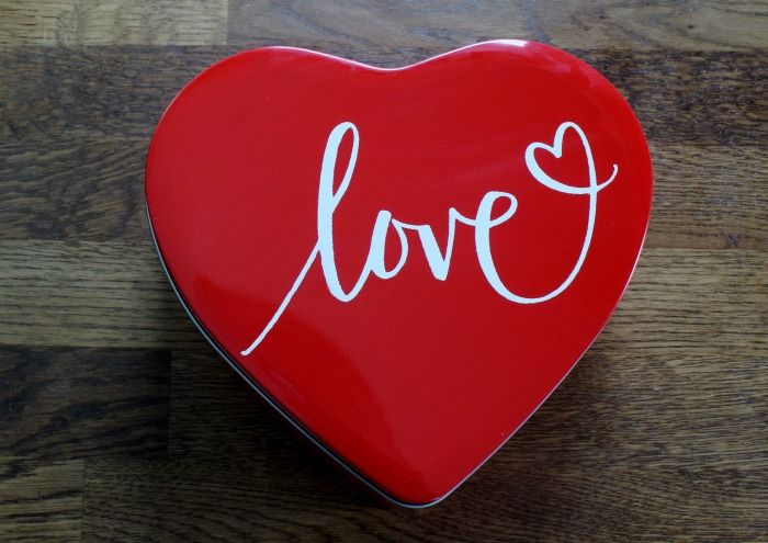 Chalk Couture Red Heart Love Candy Tin by Knick of Time | knickoftime.net