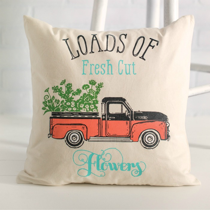 Chalk Couture Spring Vintage Truck Transfer available from Knick of Time