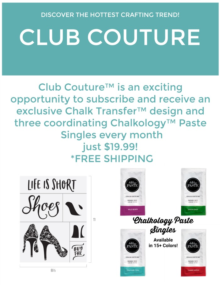 Chalk Couture Club Couture offered from Knick of Time