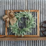 DIY Spring Wreath Farmhouse Frame Knick of Time