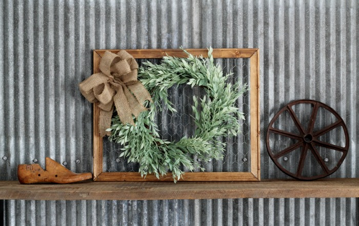 DIY Spring Wreath Farmhouse Frame Knick of Time