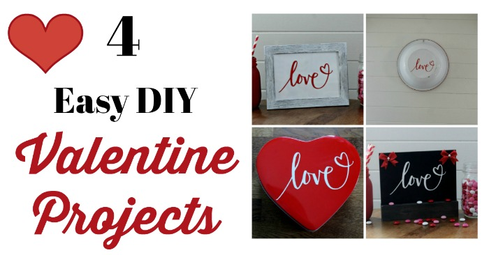 Make 4 Easy DIY Valentine's Day Projects with just one Chalk Couture transfer! Learn how at Knick of Time #Valentine #diy #valentinecrafts #craft #dollartree #chalkart #chalkcouture #love #romantic #sweetheart #candy | knickoftime.net