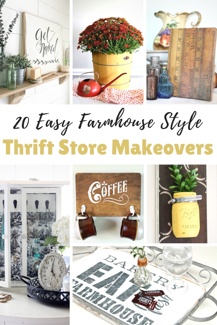 Easy Farmhouse Style Thrift Store Makeovers | knickoftime.net