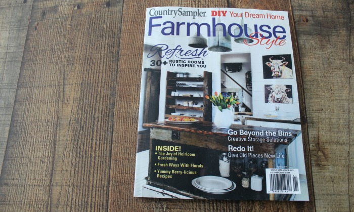 Farmhouse Style Country Sampler Magazine feauture