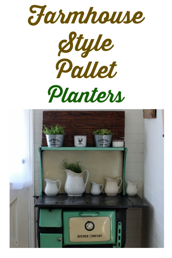 Make two inexpensive and easy styles of Farmhouse Style Pallet Planters!