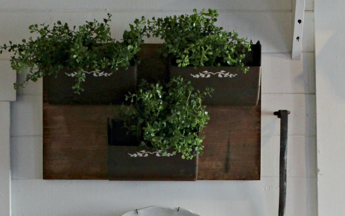 Old Grain Bin Scoops Repurposed into Farmhouse Metal Kitchen Wall Bins by Knick of Time