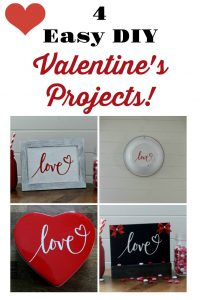 4 Easy DIY Valentine's Day Craft projects using just ONE transfer from Chalk Couture! Learn how at Knick of Time | knickoftime.net