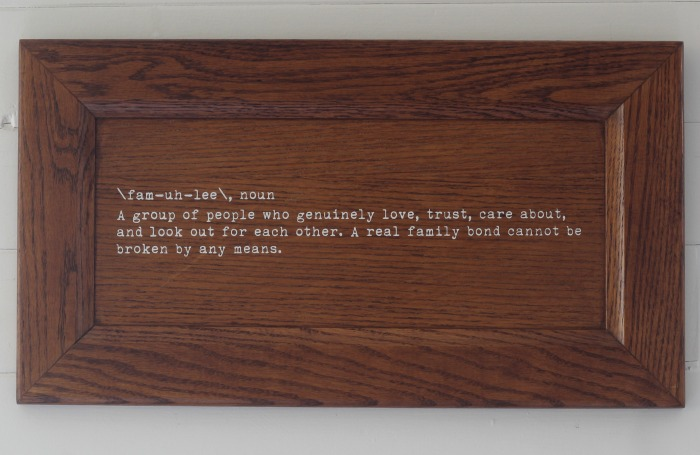 Family Definition Repurposed Cabinet Door Wall Decor by Knick of Time - knickoftime.net