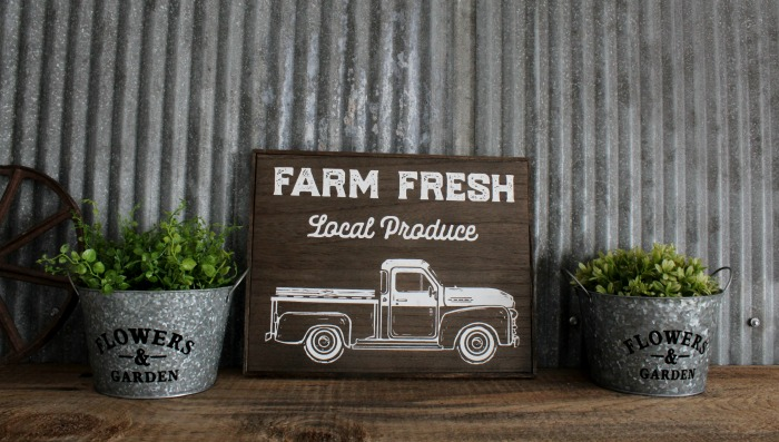 Chalk Couture Vintage Truck with fall add-on on box frame wood farmhouse decor by Knick of Time