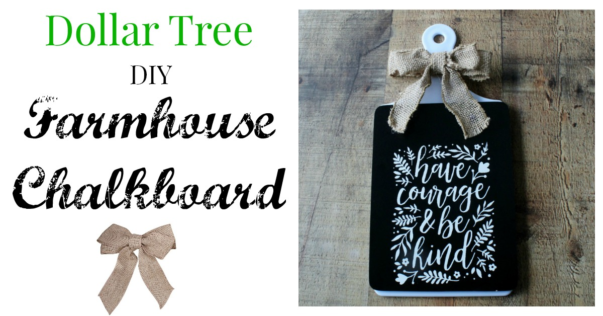 Dollar Tree Farmhouse Diy Chalkboard Knick Of Time