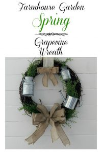 Farmhouse Garden Spring Grapevine Wreath by Knick of Time