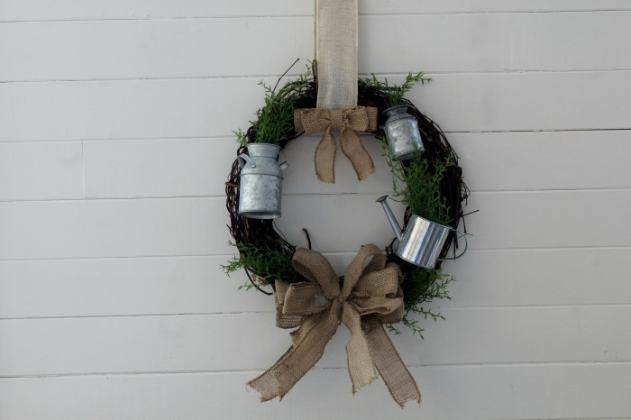 Farmhouse Garden Spring Grapevine Wreath by Knick of Time / knickoftime.net