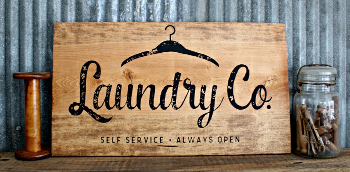 Rustic Wood Farmhouse Laundry Co. DIY Sign by Knick of Time