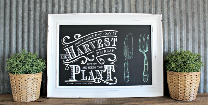 Spring Framed Chalk Art Chalk Couture Harvest Home Grown Chalk Stories Collection by Knick of Time | knickoftime.net