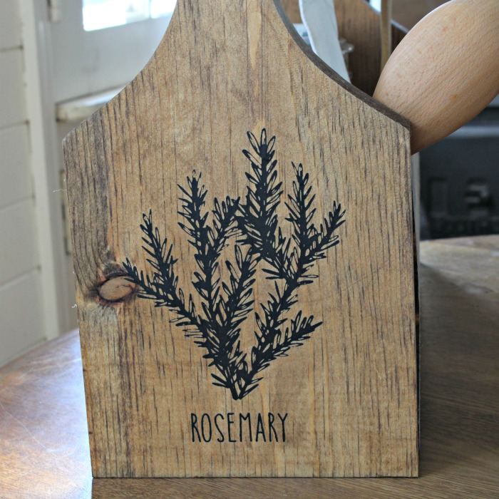 Fresh Herbs Kitchen Wood Tote by Knick of Time / knickoftime.net