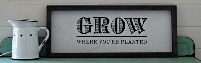 Grow Where You're Planted Handmade Sign on Box Frame by Knick of Time