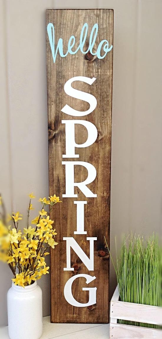 Hello Spring Porch Sign