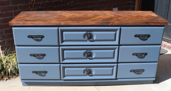 Herringbone Dresser Top