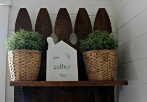 House Tissue Box Holder with Chalk Couture Welcome Hello Gather transfer by Knick of Time/ knickoftime.net