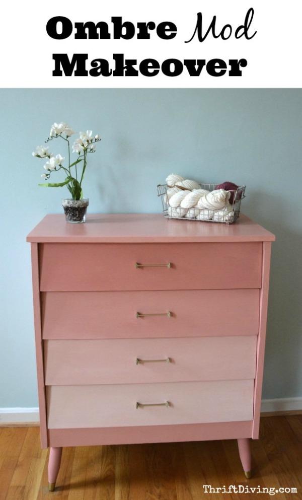 Pink Mod Ombre Dresser