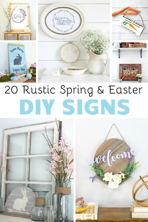 Easter and Rustic Spring & Easter DIY Signs