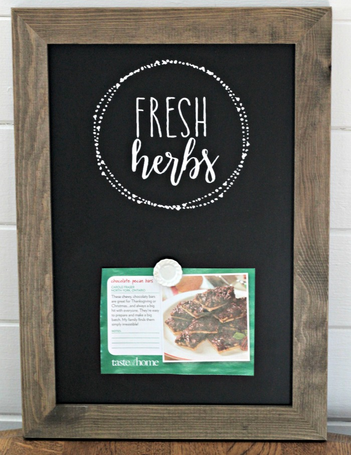 Fresh Herbs Kitchen Magnetic Chalkboard Recipe Card Holder by Knick of Time