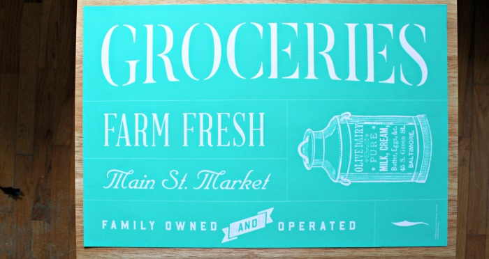 Chalk Couture Groceries Corner Market Collection available from Knick of Time