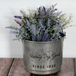 Vintage mercantile metal bucket upcycled with Chalk Couture by Knick of Time / knickoftime.net