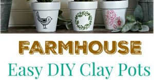 Easy DIY Farmhouse Style Clay Pots by Knick of Time / knickoftime.net