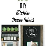 """Bring the garden indoors with these 4 ultra easy Fresh Herbs Kitchen Decor DIY Project Ideas. They can be made faster than you can say """"fresh herbs""""! by Knick of Time / knickoftime.net"""