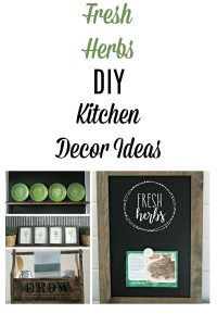 "Bring the garden indoors with these 4 ultra easy Fresh Herbs Kitchen Decor DIY Project Ideas. They can be made faster than you can say ""fresh herbs""! by Knick of Time / knickoftime.net"