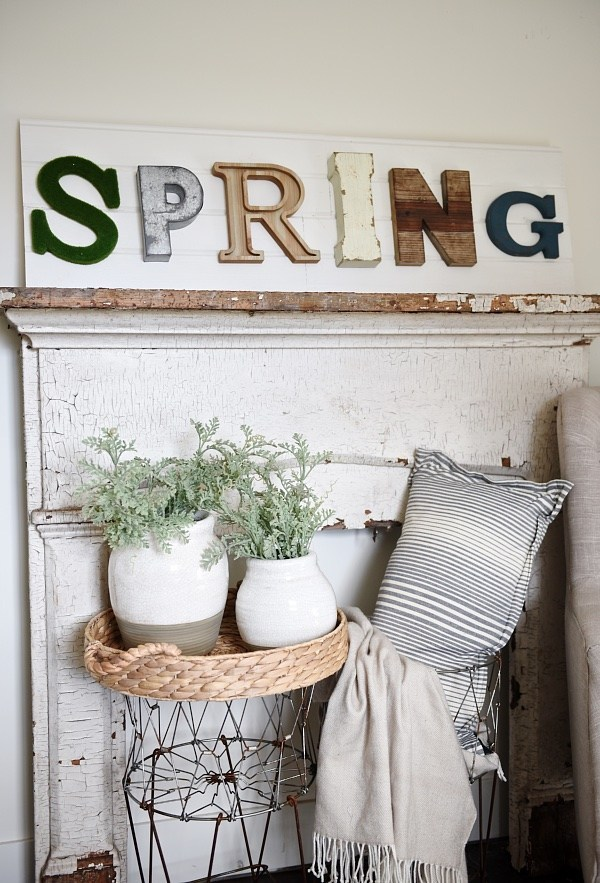 Letter Art Spring DIY Sign