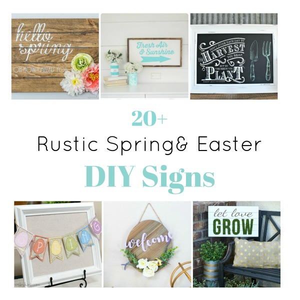 Rustic Spring and Easter DIY Signs Roundup from Knick of Time / knickoftime.net