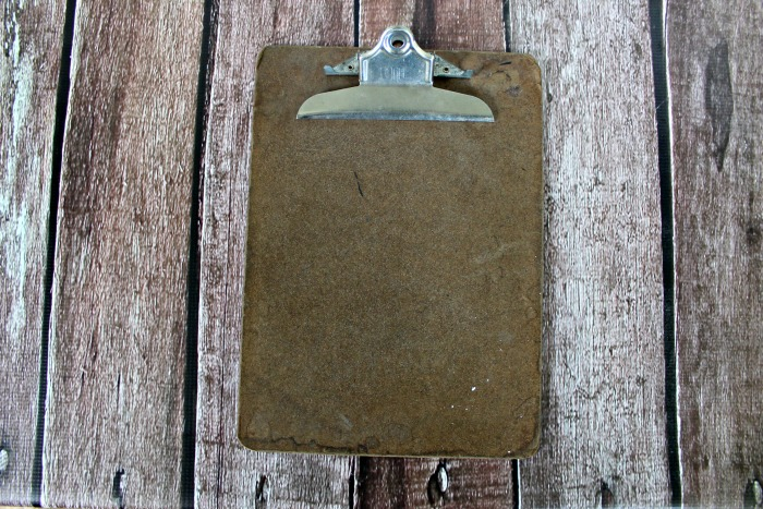 Thrift Store Haul vintage clipboard