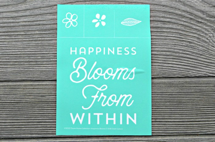 halk Couture Happiness Blooms transfer available from Knick of Time