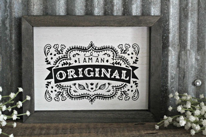 Chalk Couture I Am An Original Box Frame by Knick of Time