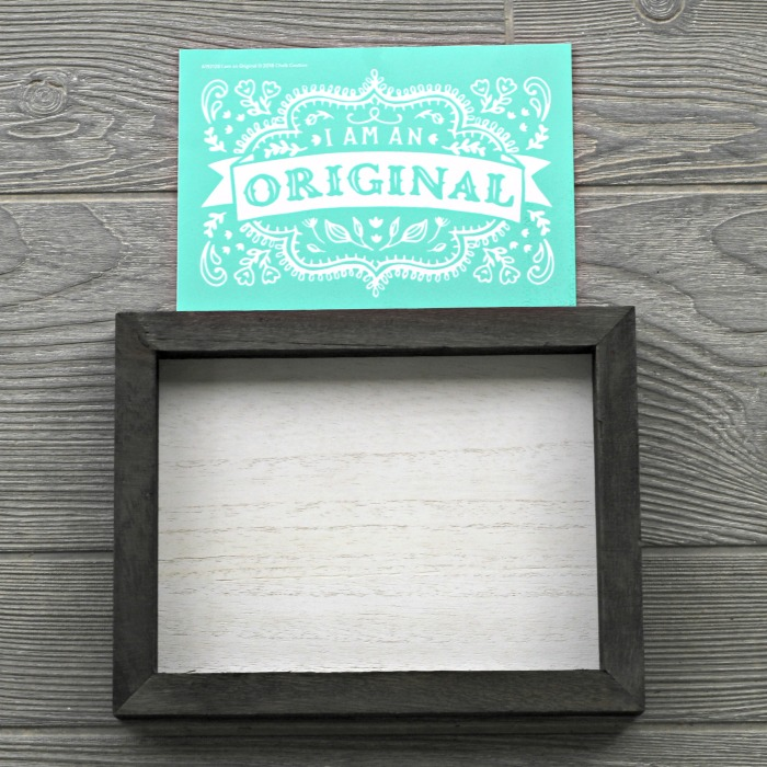 I Am an Original Box Frame Sale