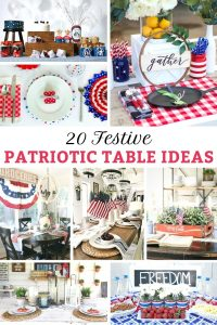 Farmhouse Festive Patriotic Table Ideas from Knick of Time