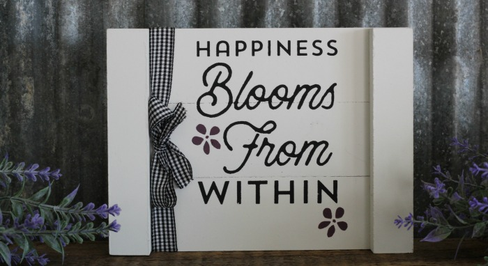 Happiness Blooms from Within Pallet sign
