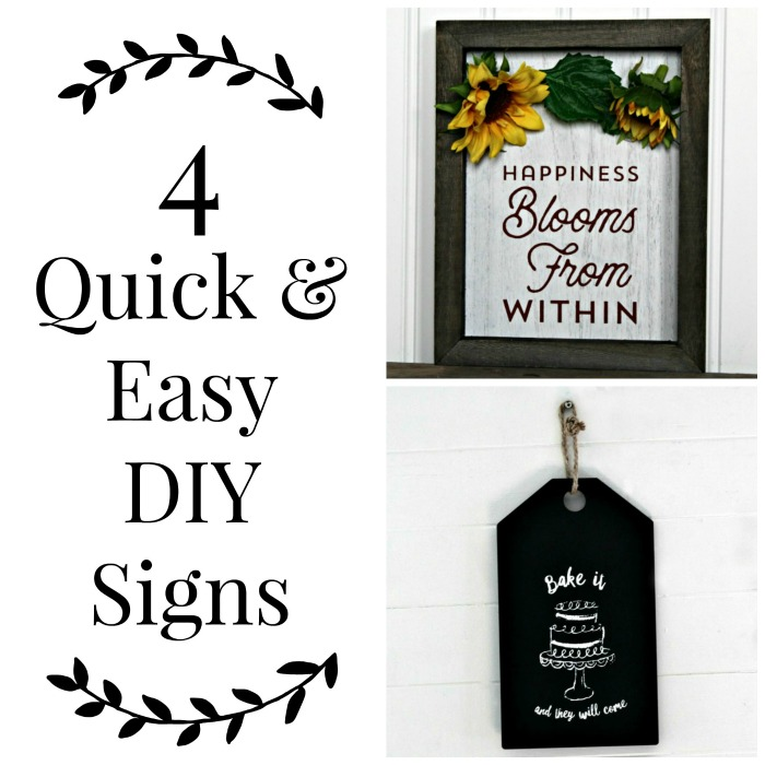 Quick and Easy DIY Signs