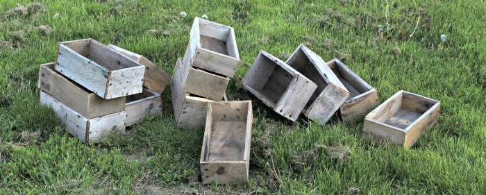 Rustic Pallet Wood Boxes
