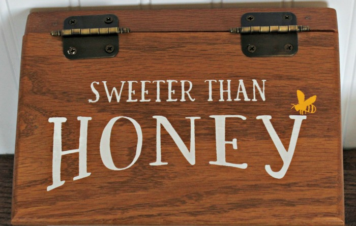Transform a Thrift Store Wood Recipe Box into one that is Sweeter than Honey! Such an easy project for beginners & folks that think they aren't crafty! Learn how at Knick of Time/ knickoftime.net