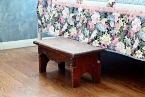 wooden plant stool