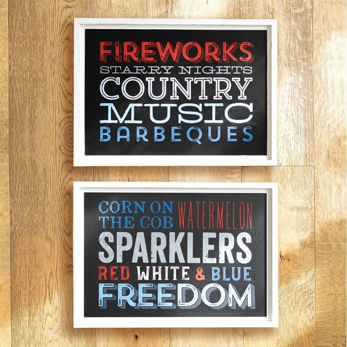 Patriotic Chalk Couture Freedom Chalkboard Signs