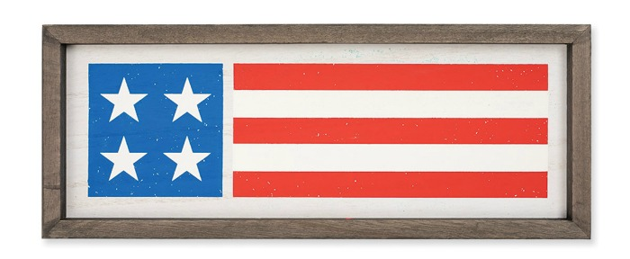 Chalk Couture Homespun Flag on box frame