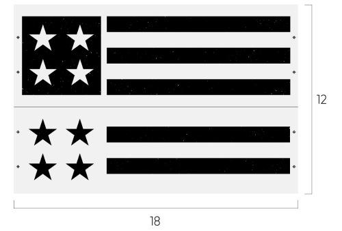 Chalk Couture Homespun Flag transfer