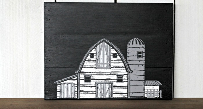 Life on the Farm Black and White Pallet Sign by Knick of Time